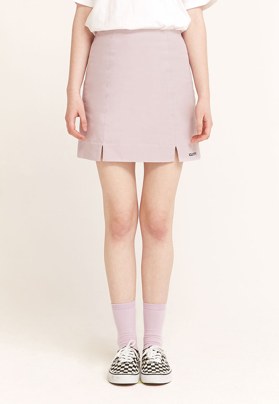 CLOTTYLOGO BANDING SKIRT[PURPLE]