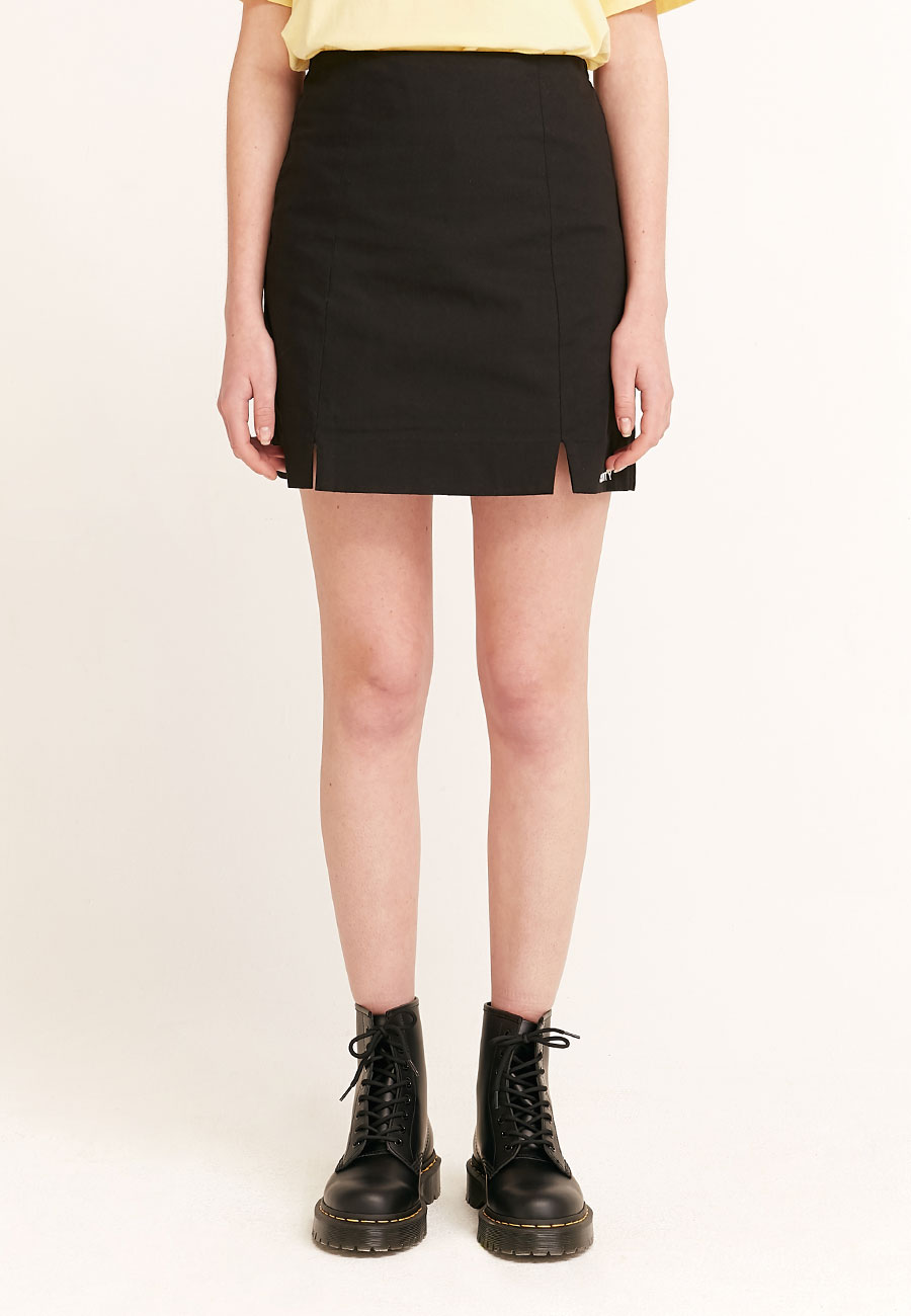 CLOTTYLOGO BANDING SKIRT[BLACK]