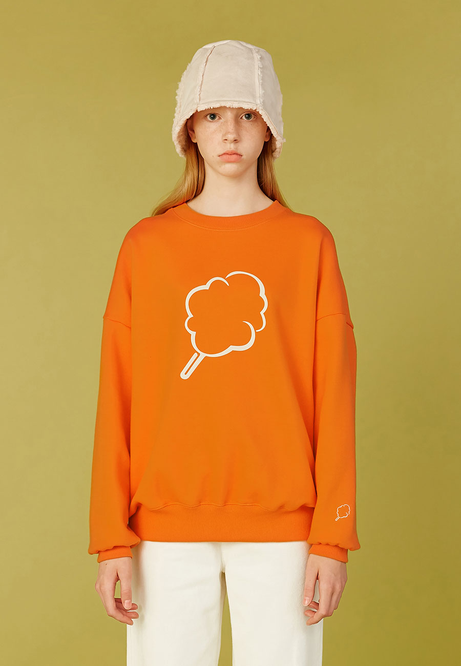 CLOTTYBIG CC OUTLINE SWEAT-SHIRT[ORANGE]