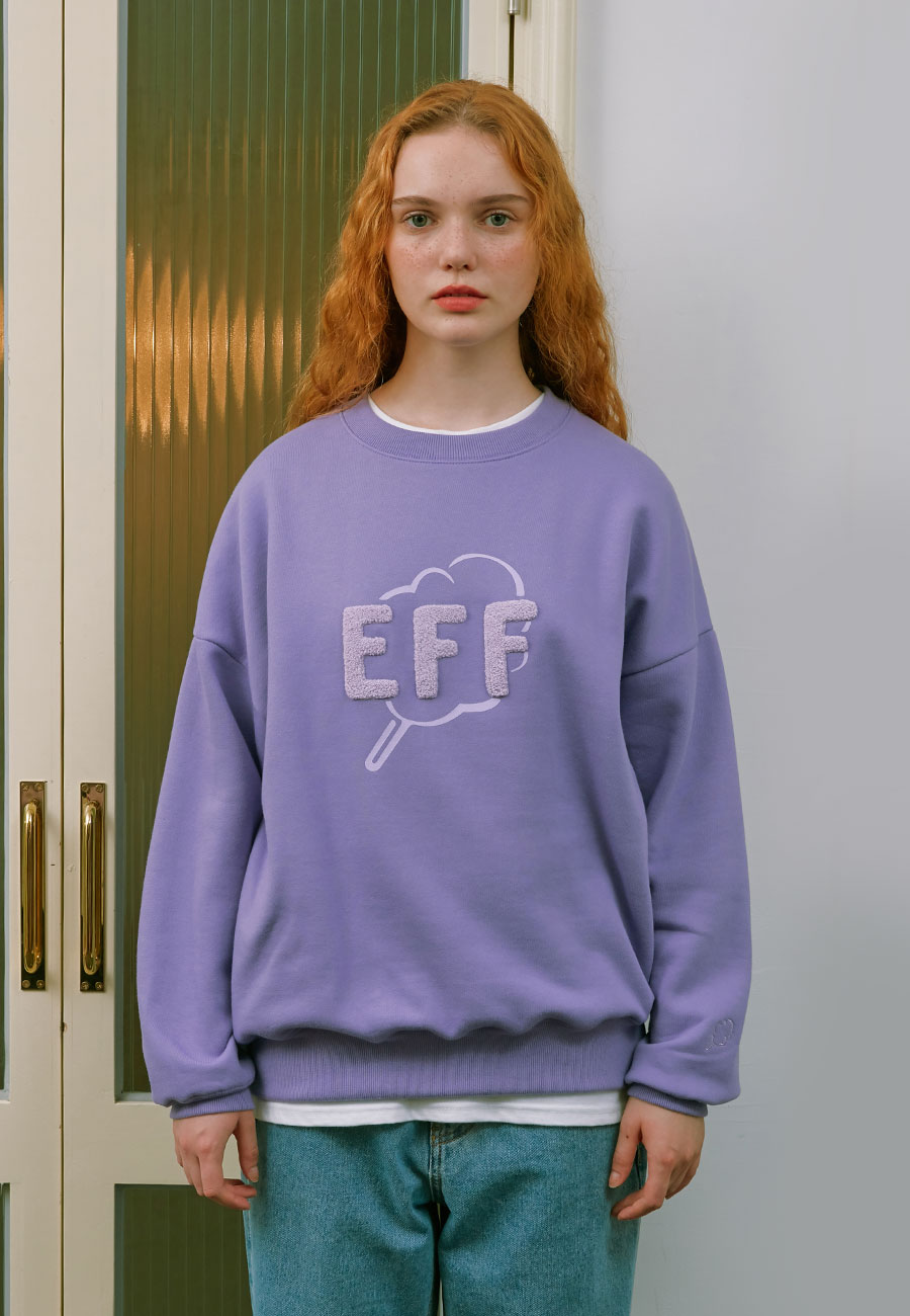 CLOTTYOUTLINE CC EFF SWEAT-SHIRT[PURPLE]